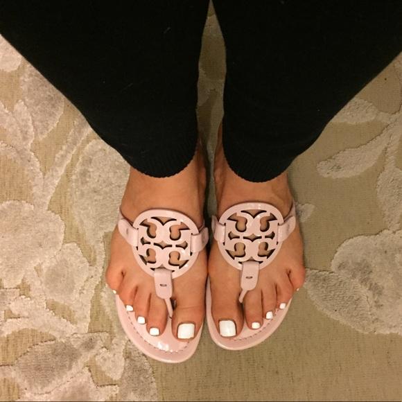 19a69a36df647c Tory Burch Miller Seashell Pink Thong Sandal